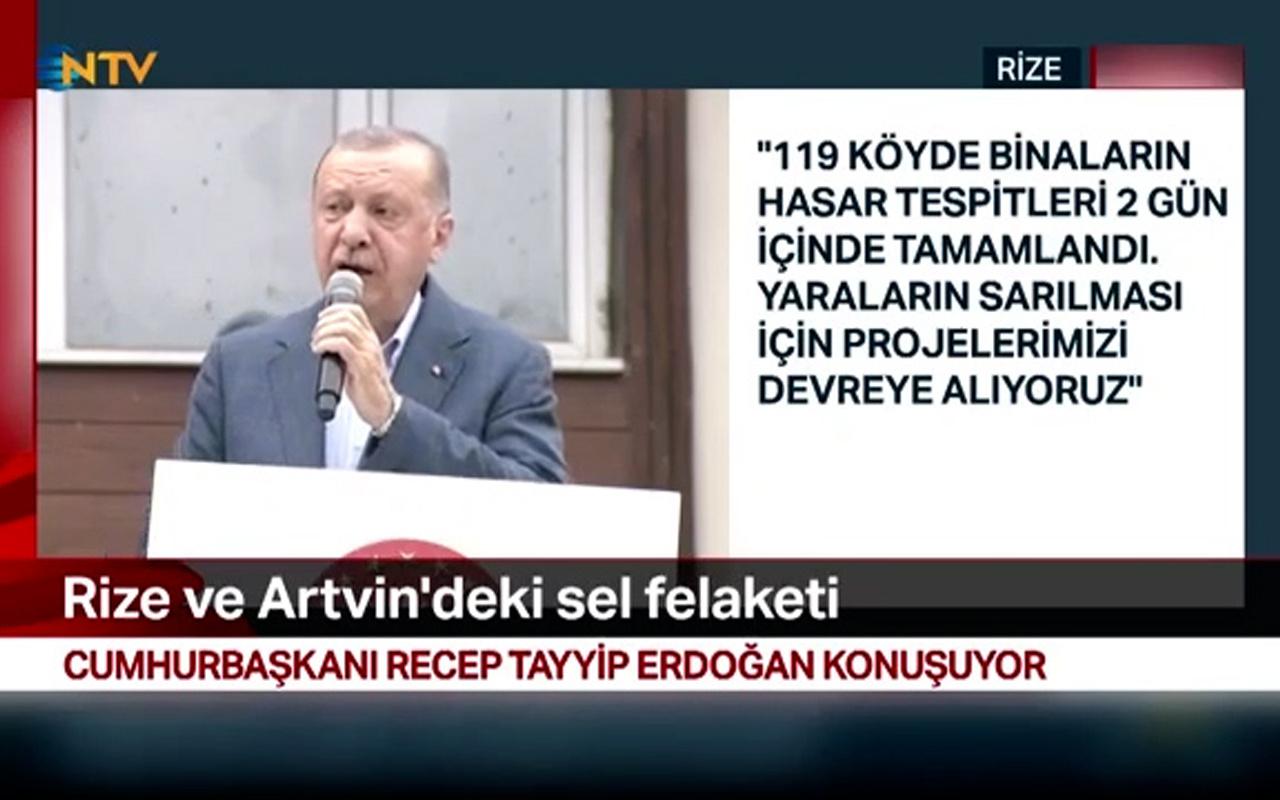 Cumhurbaşkanı Erdoğan'dan felaketin yaşandığı Rize'de konut müjdesi!