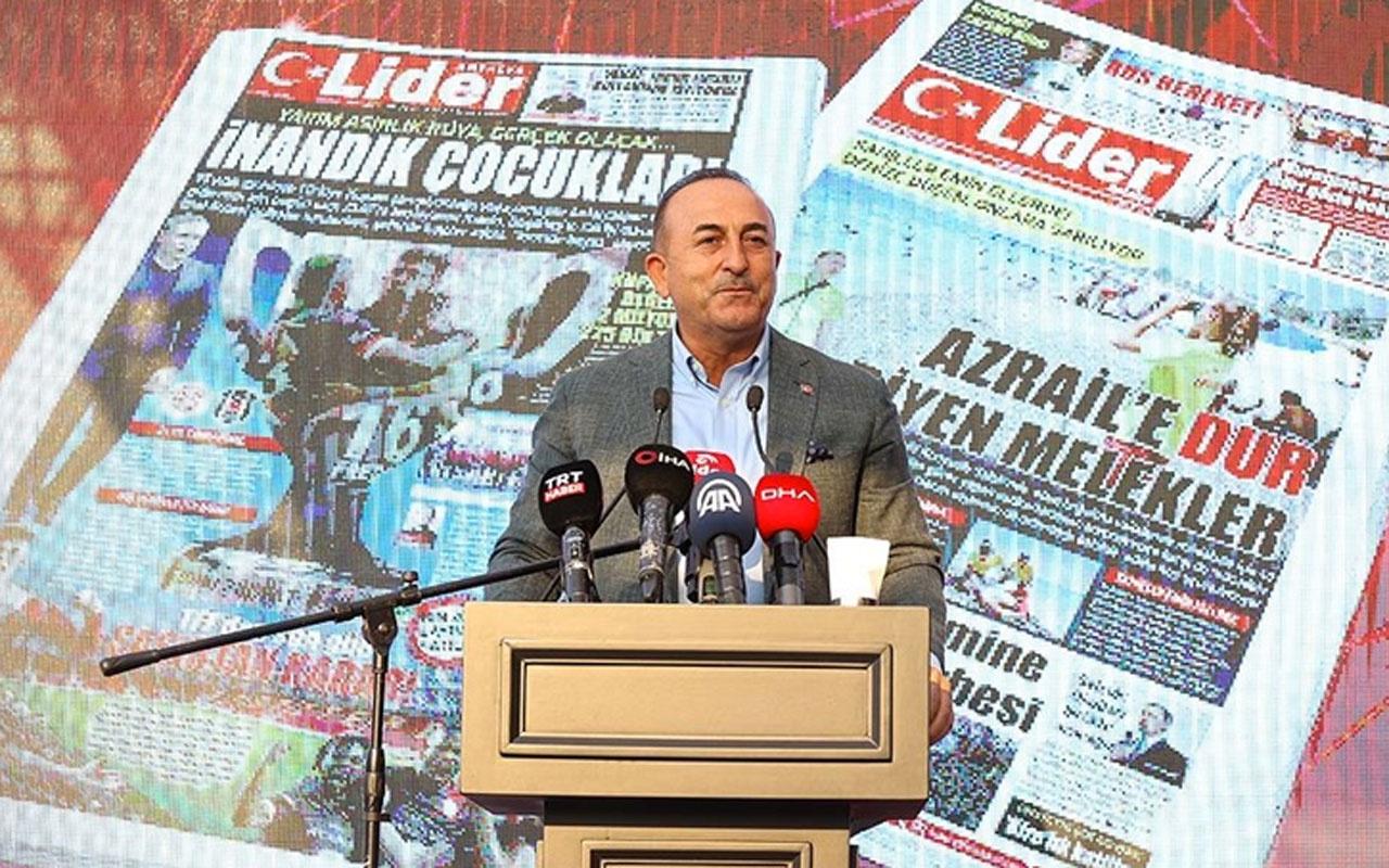 Mevlüt Çavuşoğlu'ndan ABD'nin fonladığı medyaya tepki: Ulusal güvenlik meselesidir