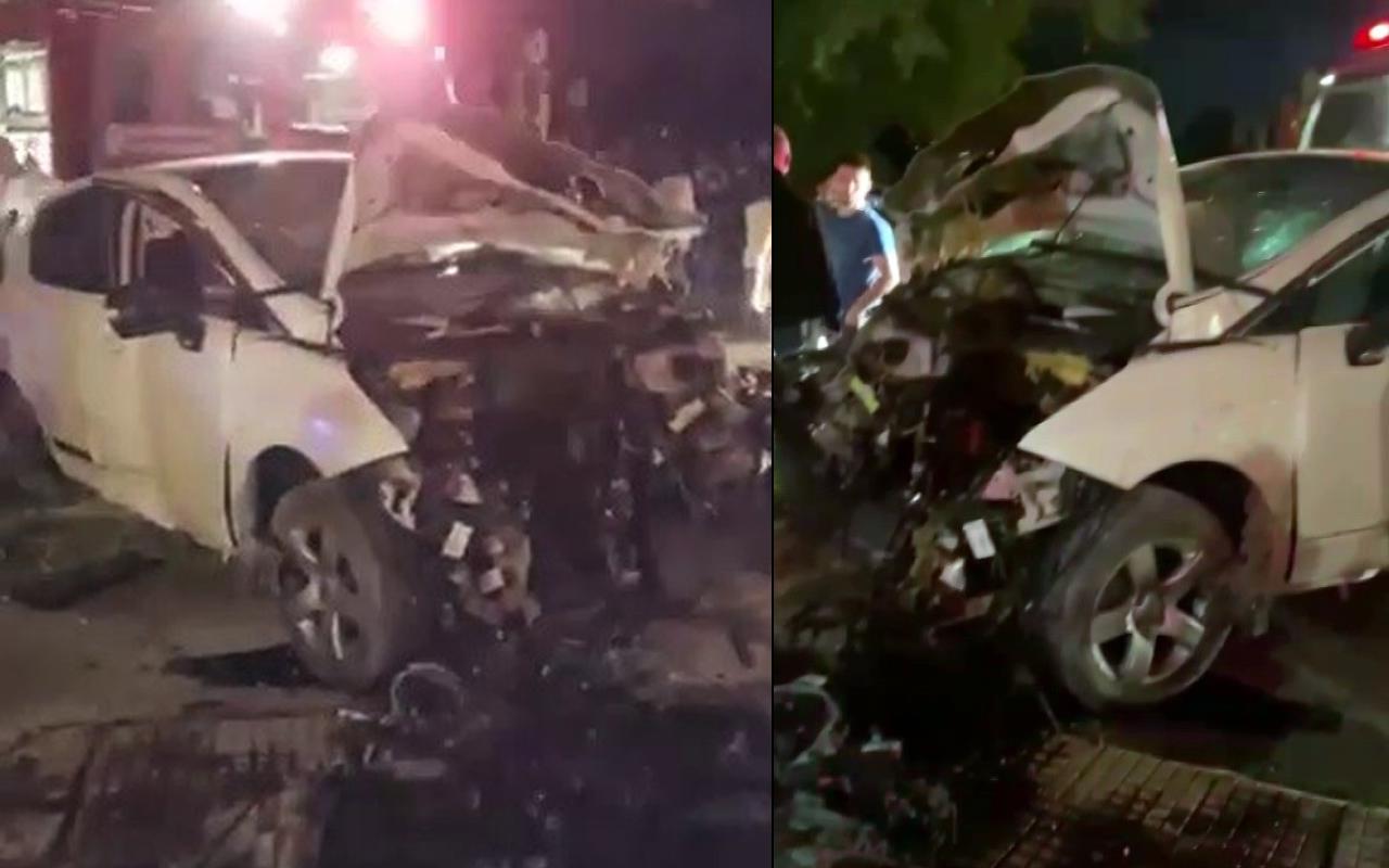 Sakarya'da iki araç kafa kafaya çarpıştı! Feci kazada can pazarı