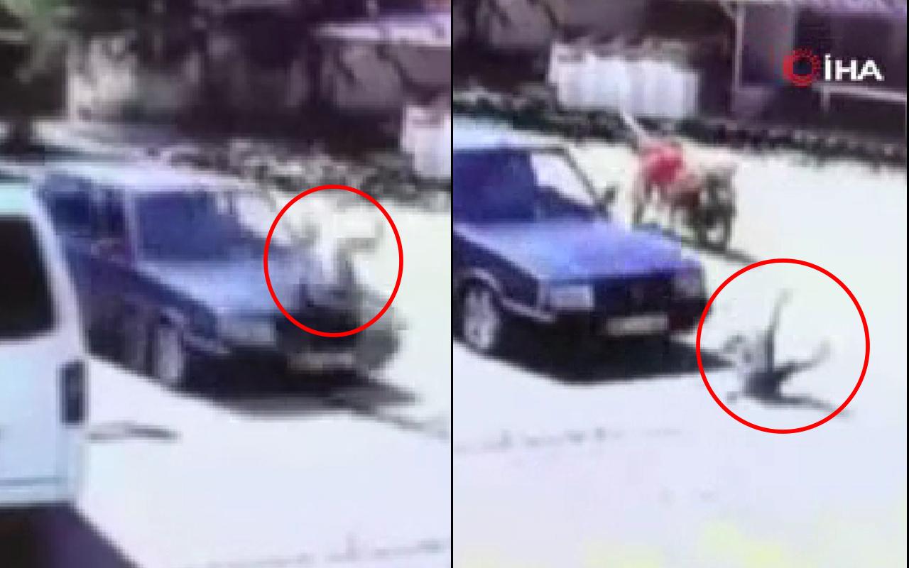 Manisa'da küçük çocuk bir anda yola fırladı! Dehşet anları saniye saniye kamerada