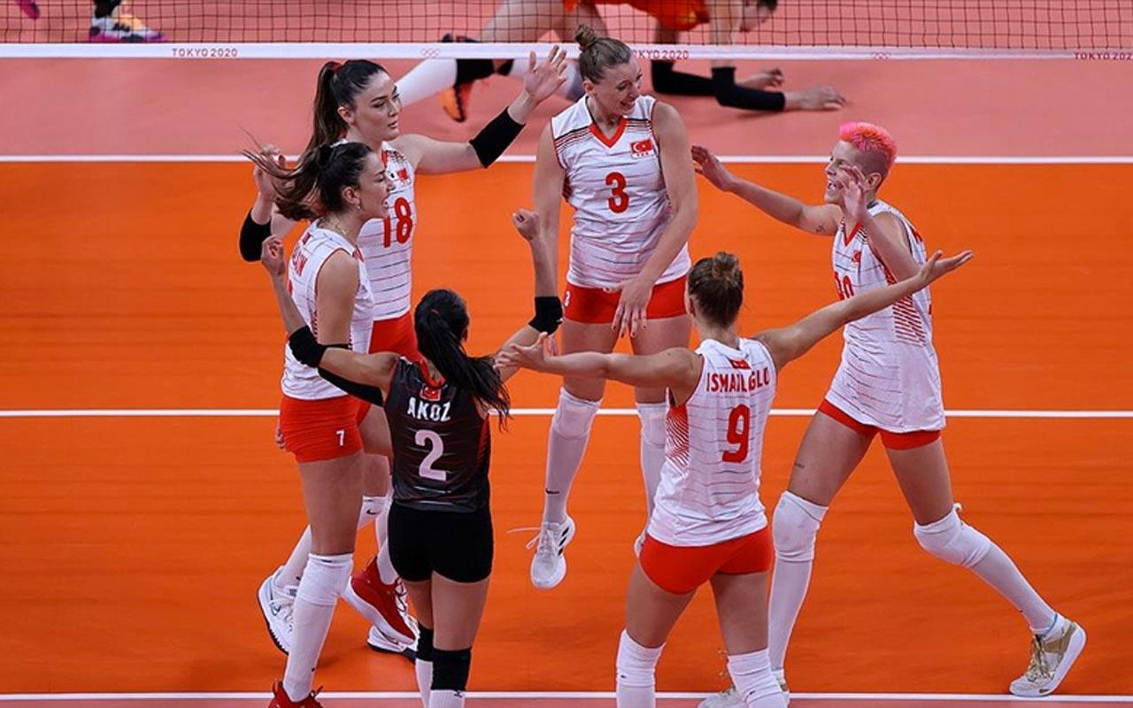 A Milli Kadın Voleybol Takımı son olimpiyat şampiyonu Çin'i 3-0 yendi