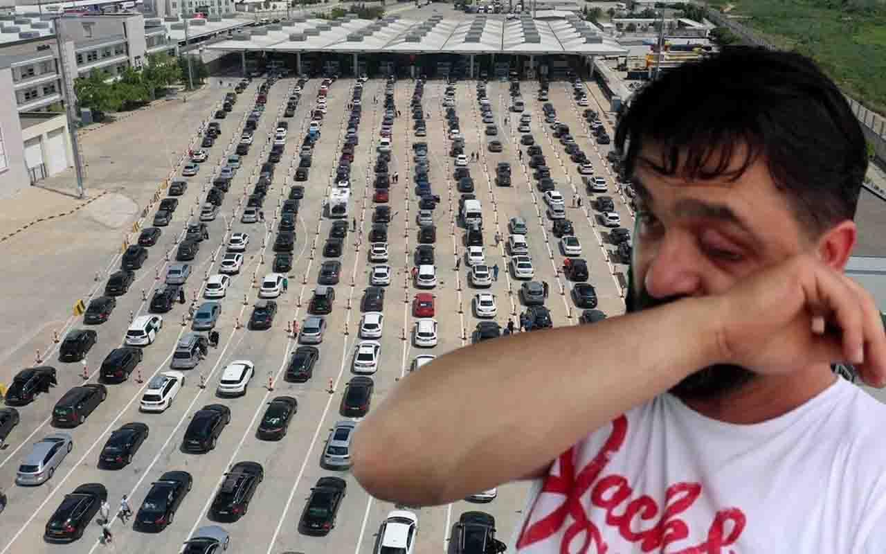 Kapıkule Sınır Kapısı'nda gurbetçi yoğunluğu! 'Türkiye'nin kıymetini bilin' deyip ağladı