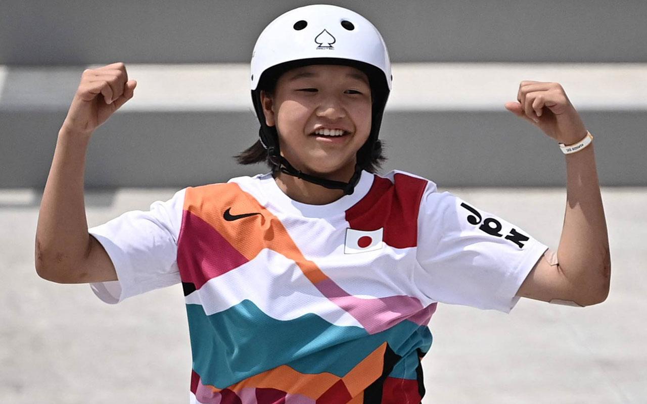 Olimpiyat tarihinde bir ilk! Momiji Nishiya 13 yaşında altın madalya kazandı!