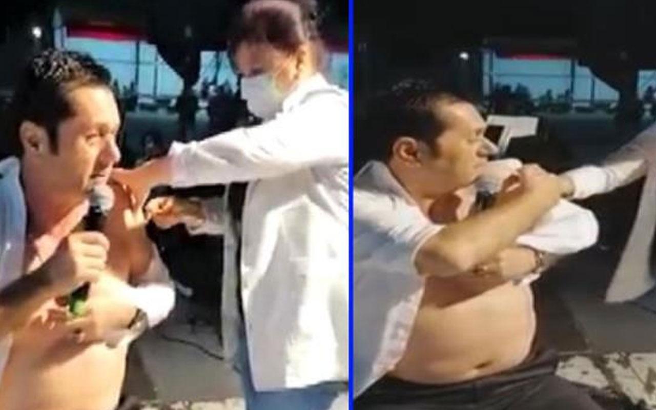 Şarkıcı Hasan Yılmaz sahnede koronavirüs aşısı yaptırdı