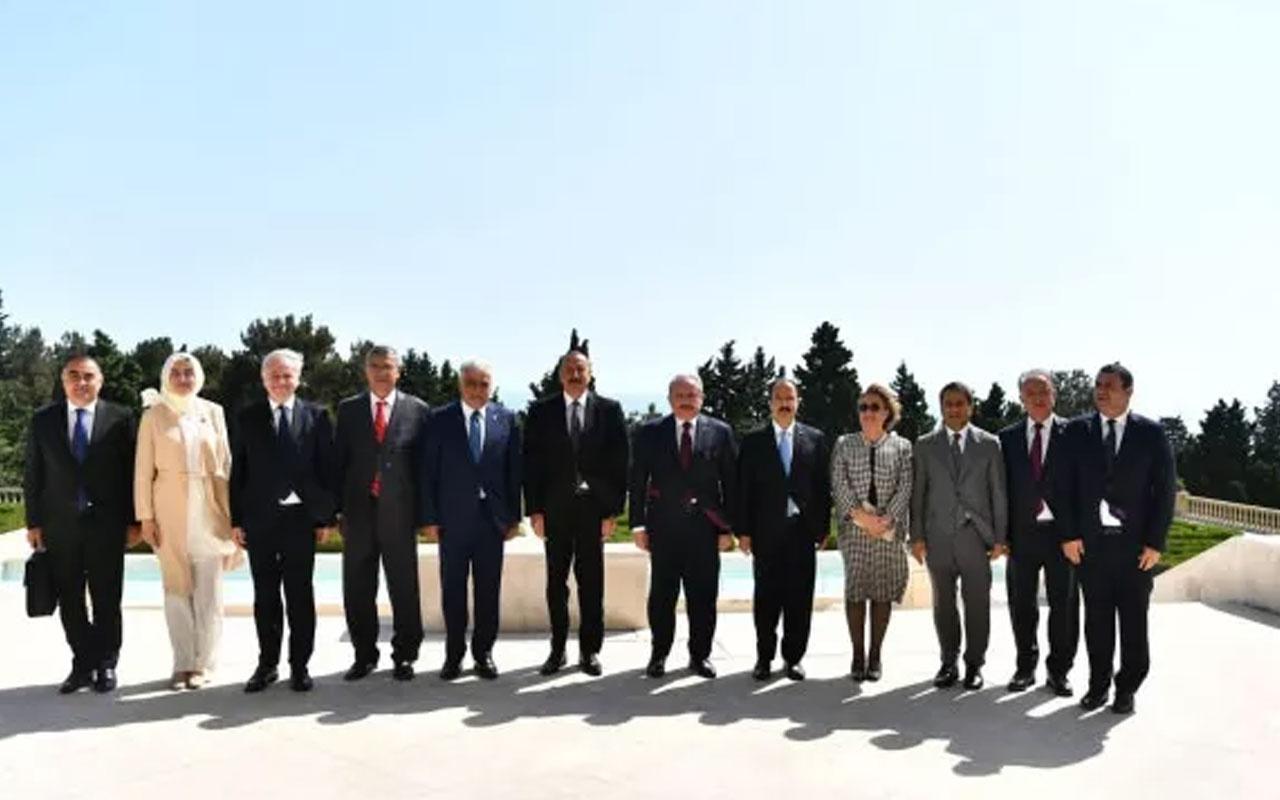 Azerbaycan Cumhurbaşkanı İlham Aliyev, TBMM Başkanı Mustafa Şentop'u kabul etti