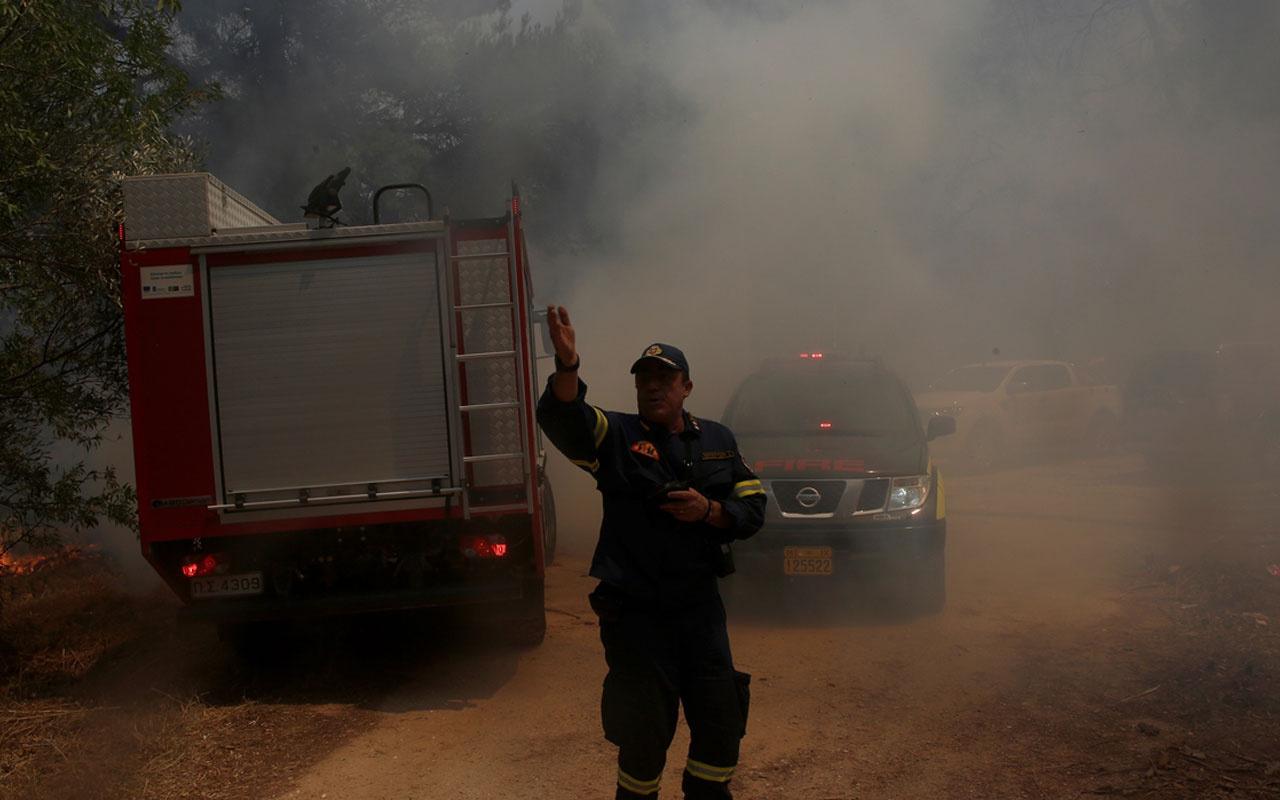 Yunanistan'da orman yangını! Bir köy boşaltıldı, yollar trafiğe kapatıldı