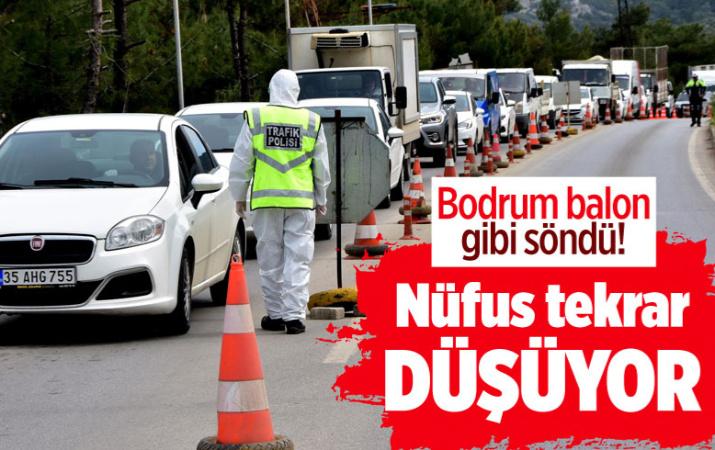 Bodrum'da 1,5 milyonluk nüfus 900 bine düştü