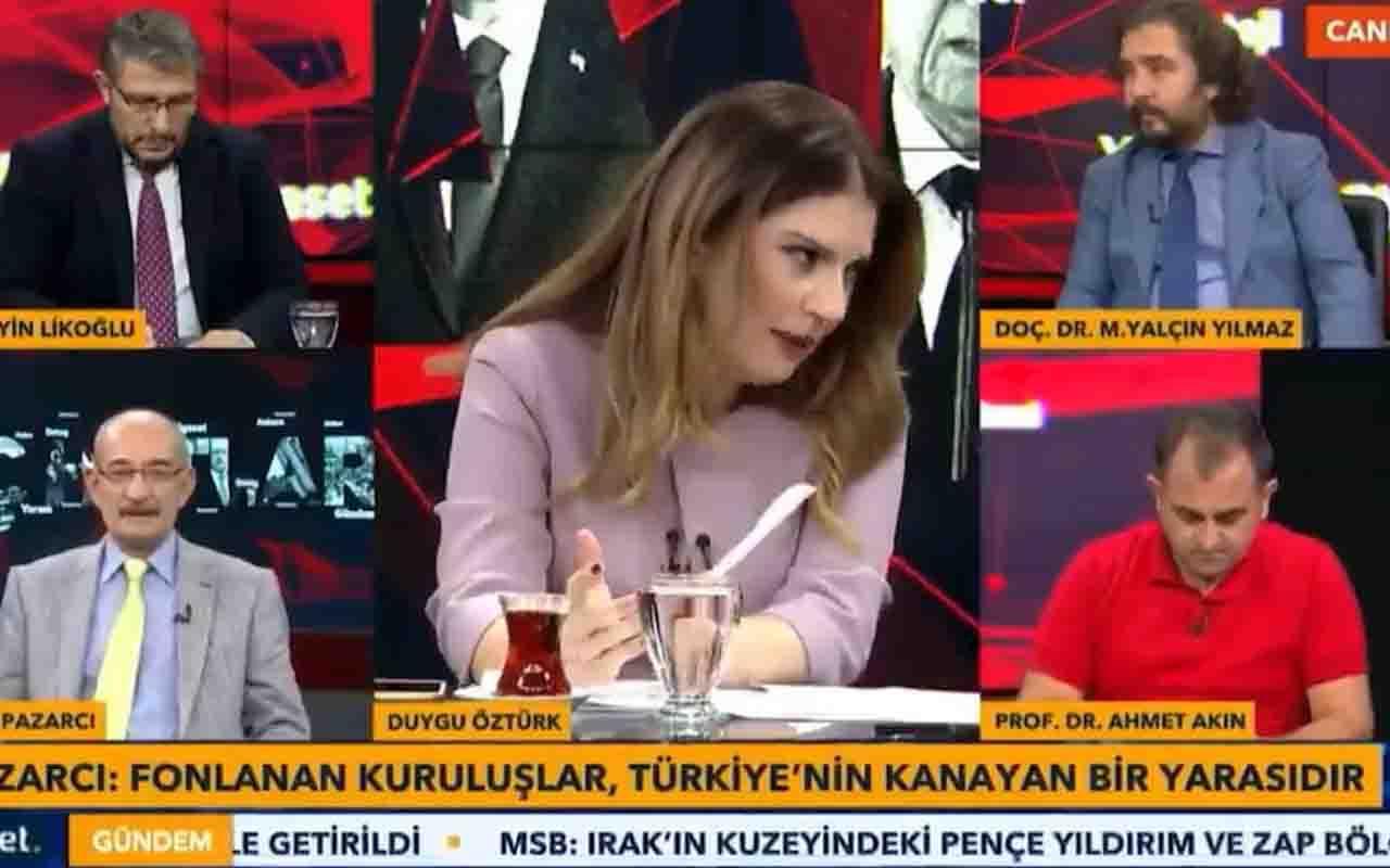 TVNET canlı yayınında devrilen masa konuklara kısa süreli şok yaşattı