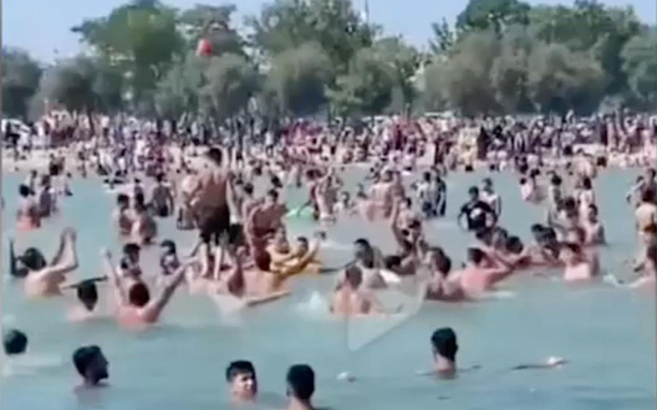 Alanya'da 'Allahu ekber' nidalarıyla denize girdiler! Görenler şaştı kaldı