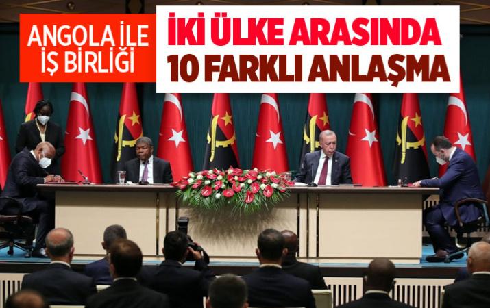 Türkiye ile Angola arasında 10 tane anlaşma imzalandı