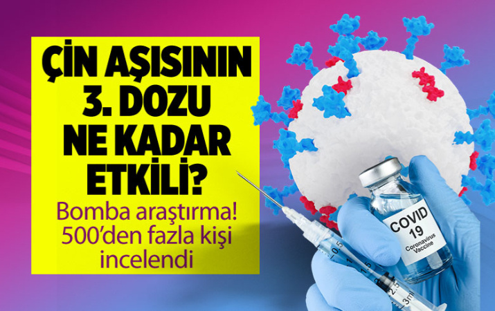 Çarpıcı Araştırma! Sinovac aşısının üçüncü dozu etkili mi?