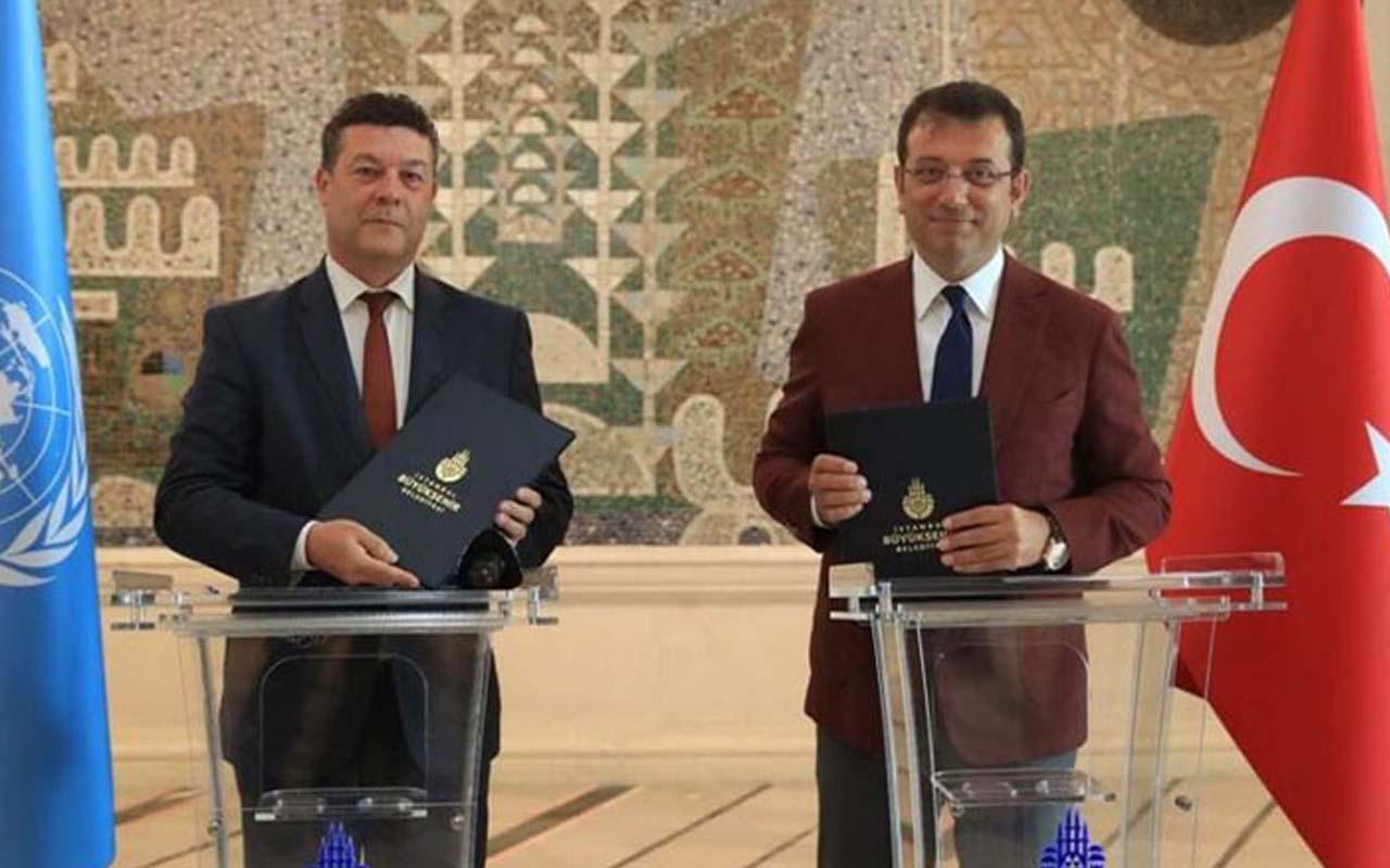 Ekrem İmamoğlu BM ile mülteci işbirliği anlaşması imzaladı