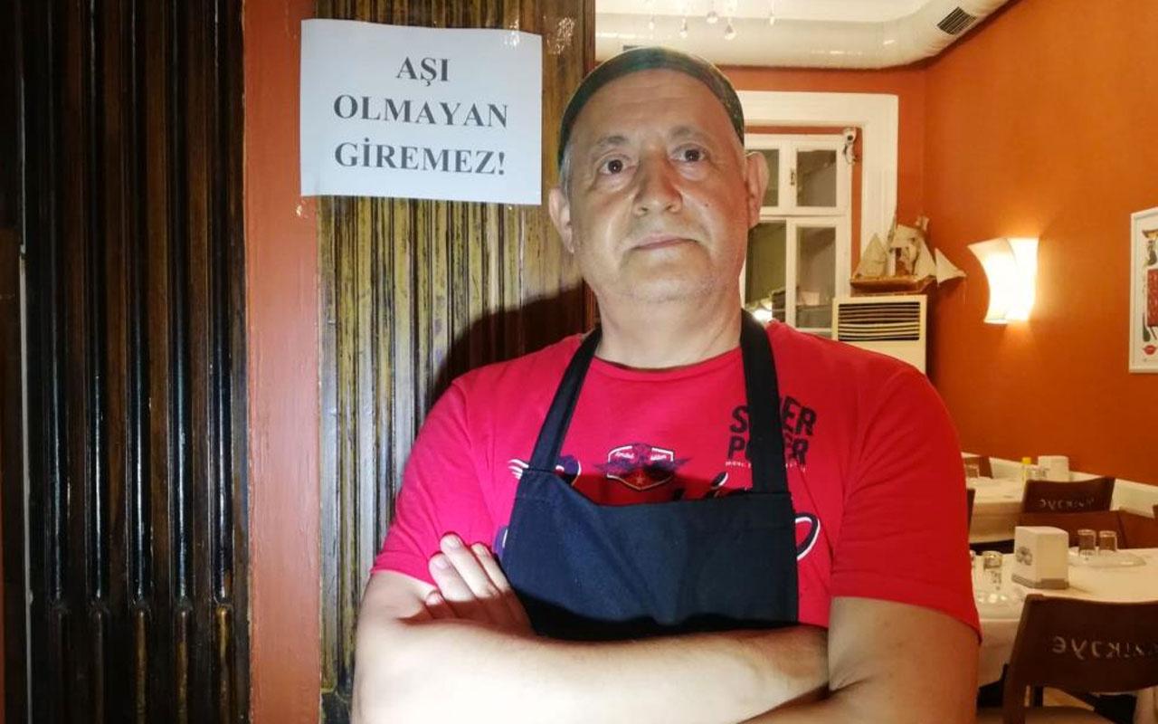 Aşı olmayanlara kötü haber İzmir'de bu işletmeci uygulamayı başlattı