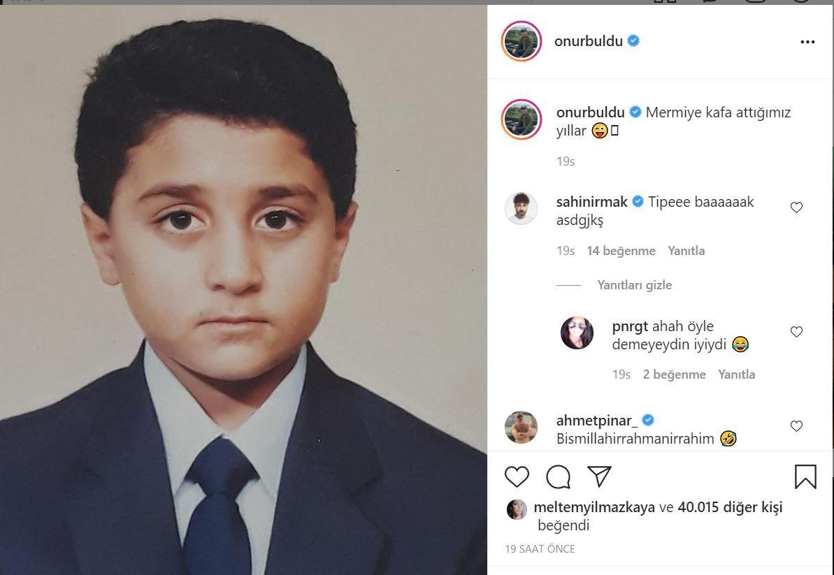 Güldür Güldür Onur Buldu'nun Instagram'daki çocukluk fotoğrafı Ecem Erkek ile kardeş gibi...