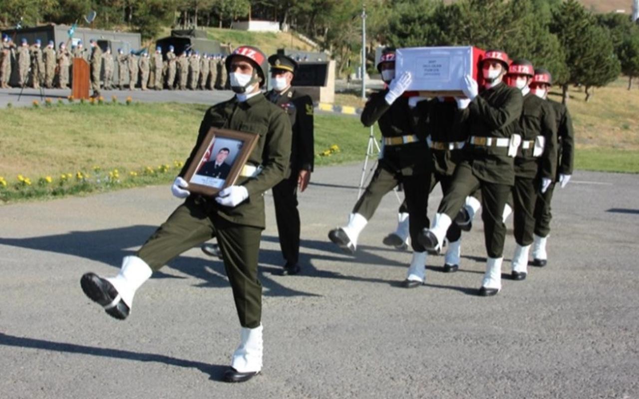 Şehit Piyade Uzman Çavuş Halil Çelebi için Hakkari'de tören düzenlendi