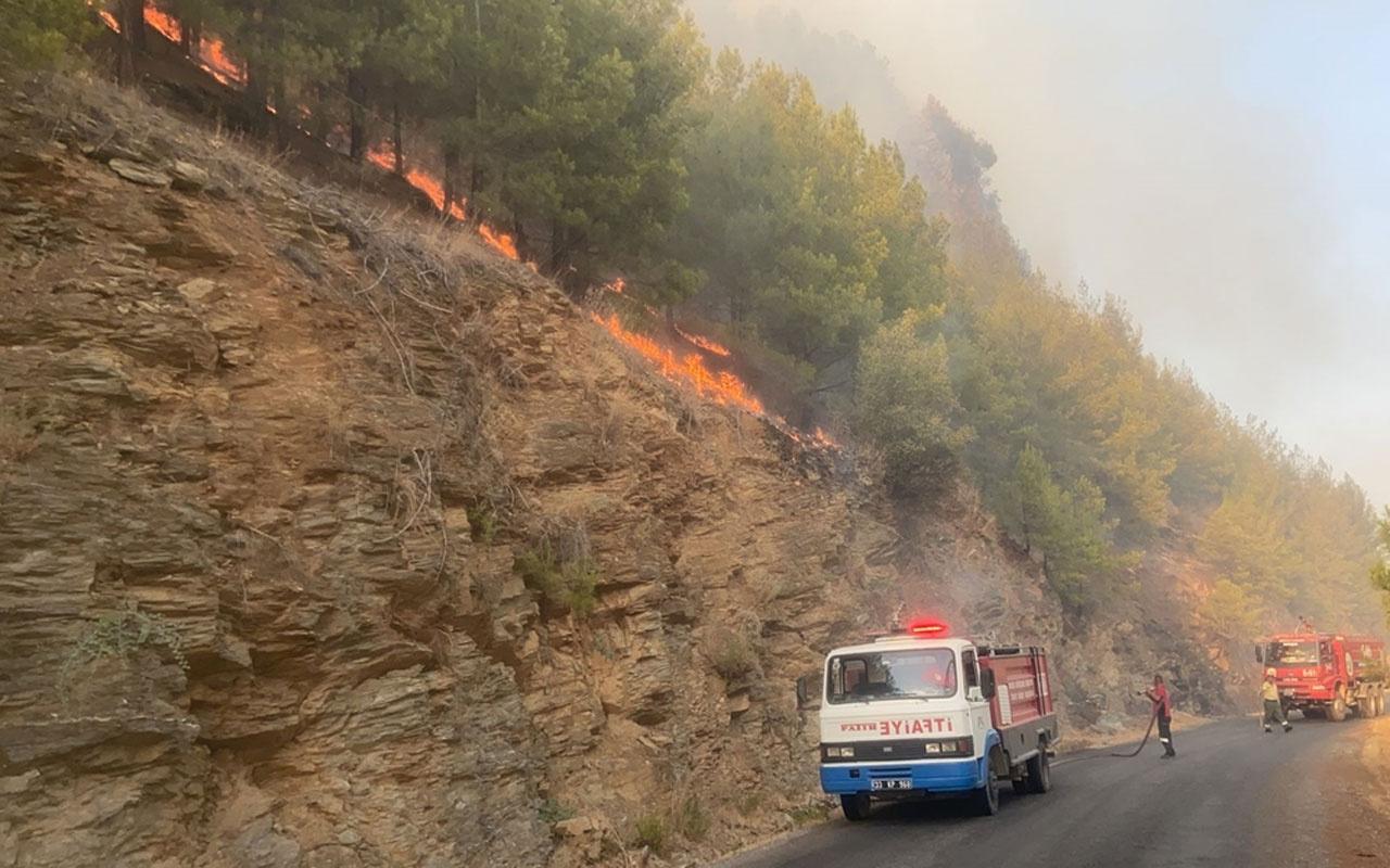 Peş peşe acı haber! Mersin'de orman yangını