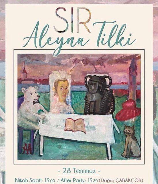 Aleyna Tilki evleniyor mu? Instagram'dan davetiye paylaştı
