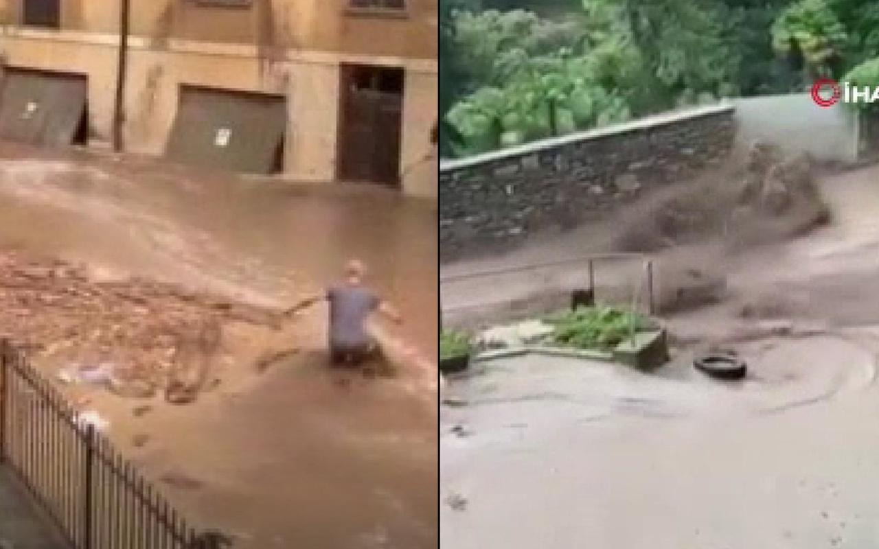Caddeler ve sokaklar sular altında kaldı! İşte İtalya'daki sel görüntüleri