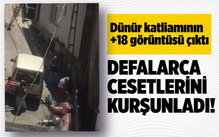 Beyoğlu'nda dünür katliamının +18 görüntüsü! Defalarca kafalarına sıktı!