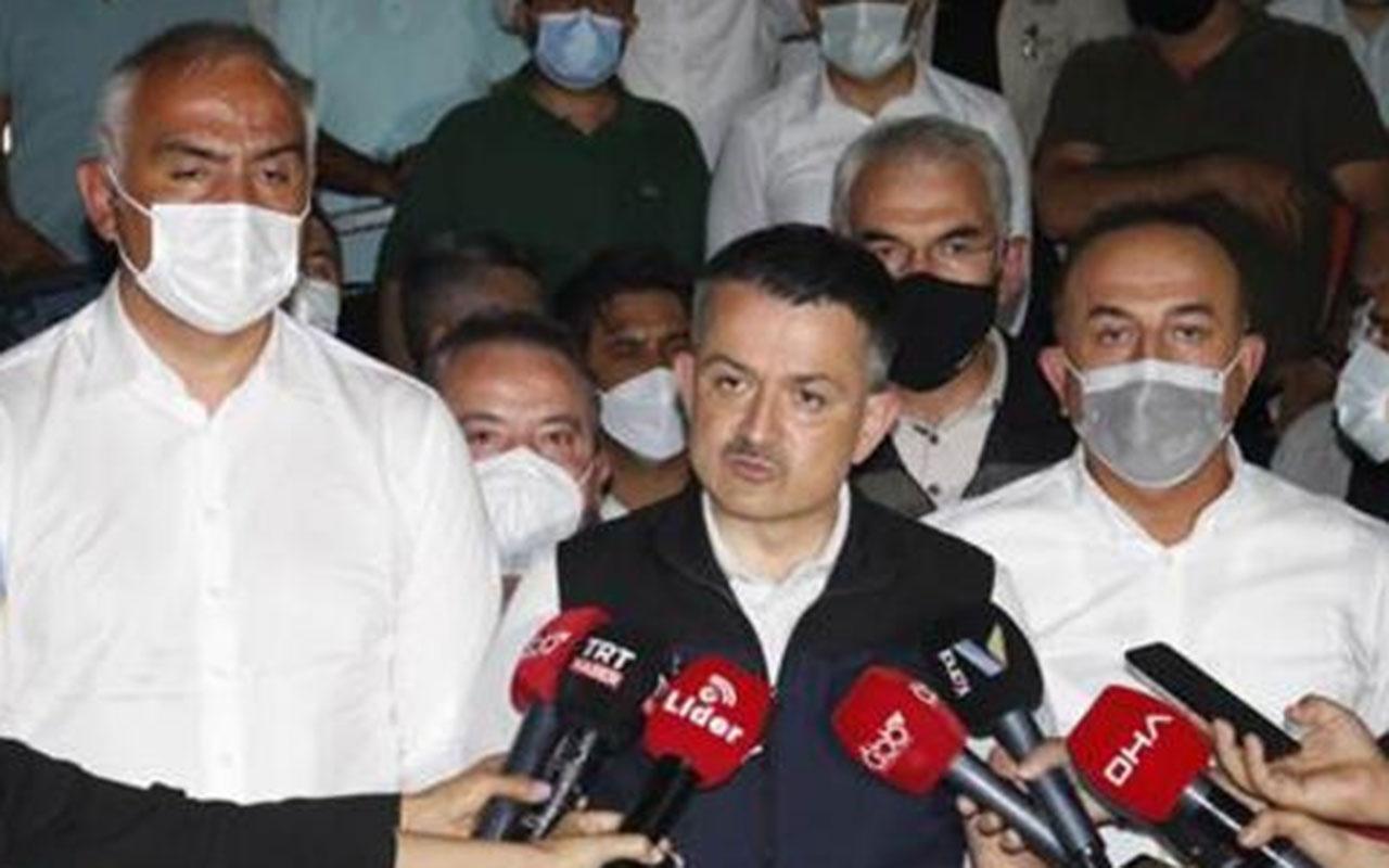 Orman Bakanı Bekir Pakdemirli acı haberi verdi! Manavgat'taki yangında 1 kişi öldü 10 kişi mahsur