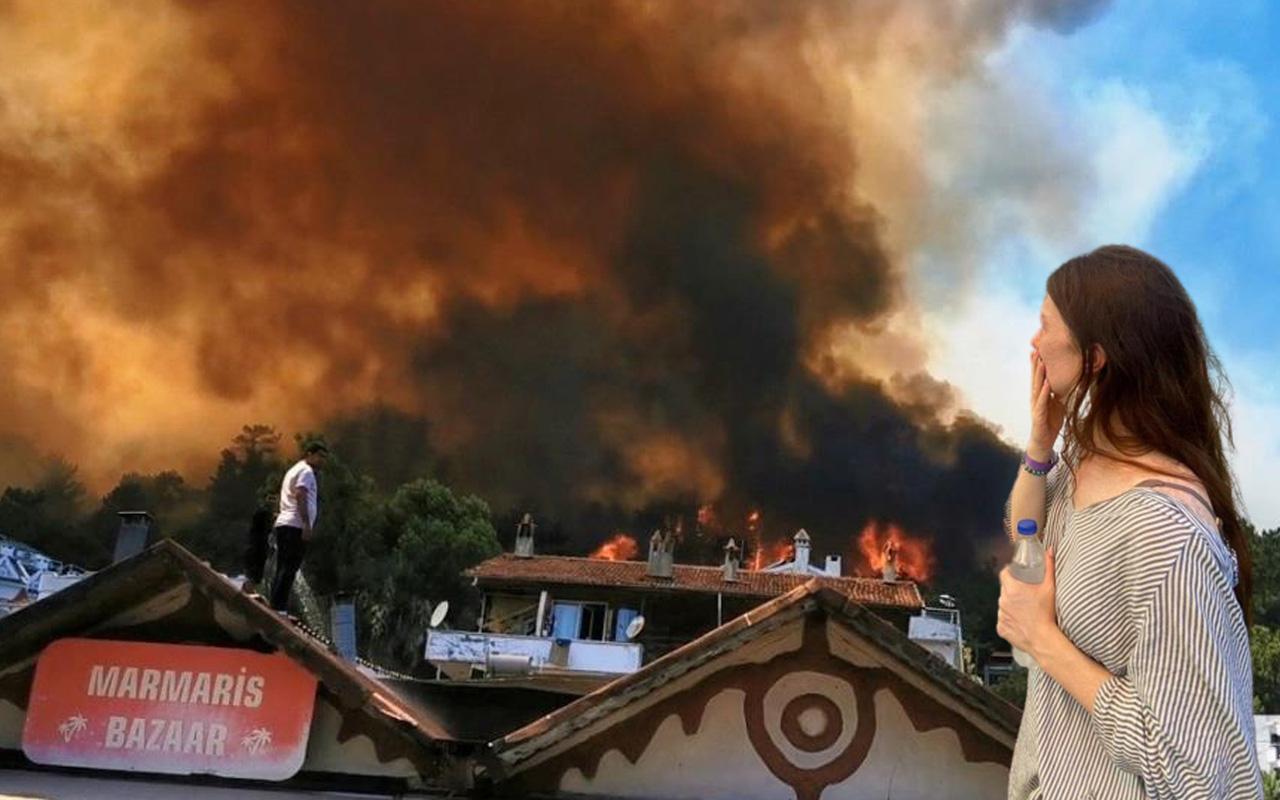Muğla'nın Marmaris ve Bodrum ilçeleri yanıyor! Yangın evleri tehdit etti, 'Titanic Otel'e sıçradı