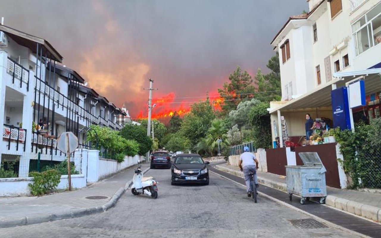 Kocaeli ve Muğla Marmaris'te ormanlık alanda yangın