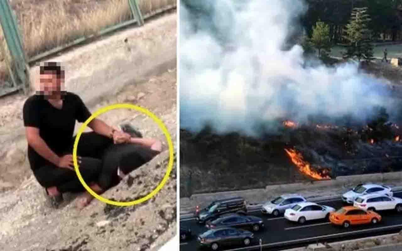 Ankara'da kışlada yangın çıkarmaya çalışan kişi suçüstü yakalandı