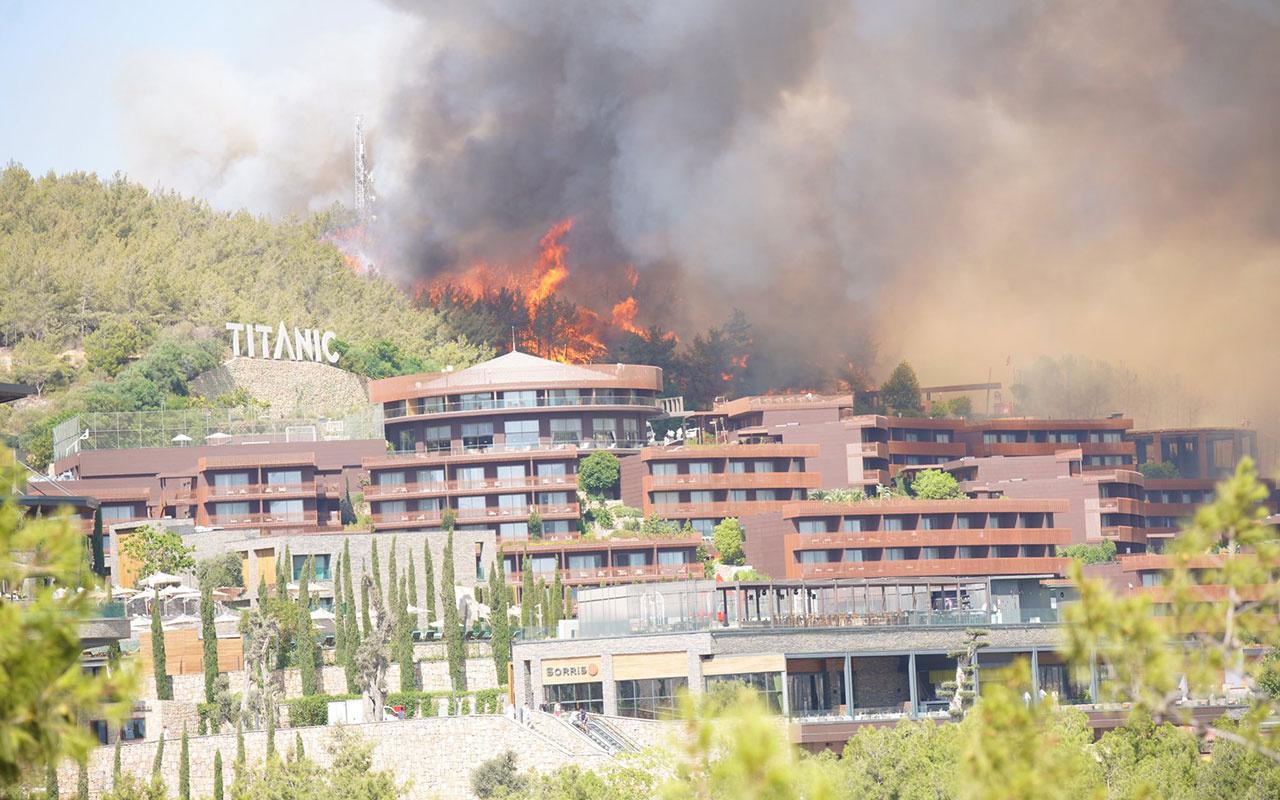 Bodrum yangını kısmen kontrol altına alındı! Alevler 5 yıldızlı lüks otele sıçradı