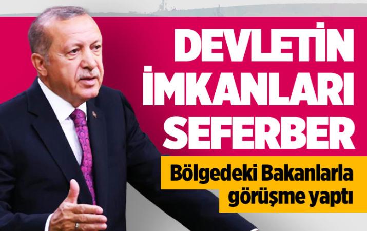 Cumhurbaşkanı Erdoğan: Devletimiz tüm imkanlarıyla seferber