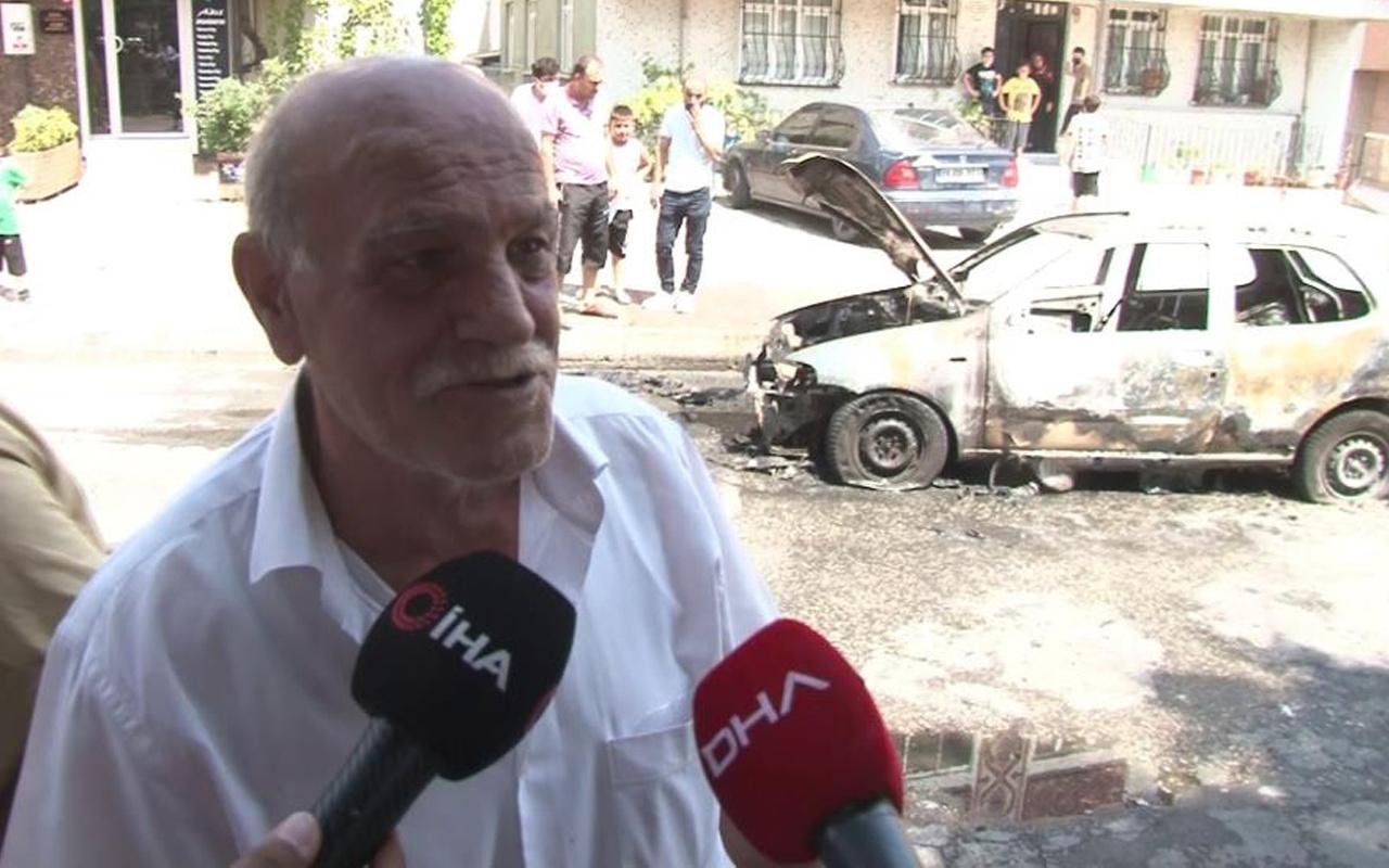İstanbul'da aracı bir anda alevler içinde kaldı: Hiç üzülmedim