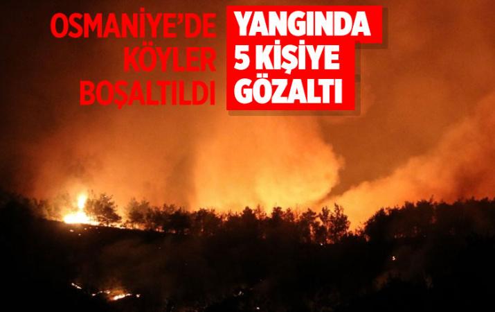 Osmaniye'deki yangında flaş gelişme! 5 kişi gözaltına alındı