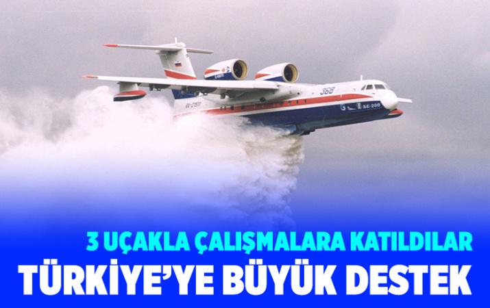 Rusya'dan Antalya Manavgat'taki yangına 3 uçakla destek