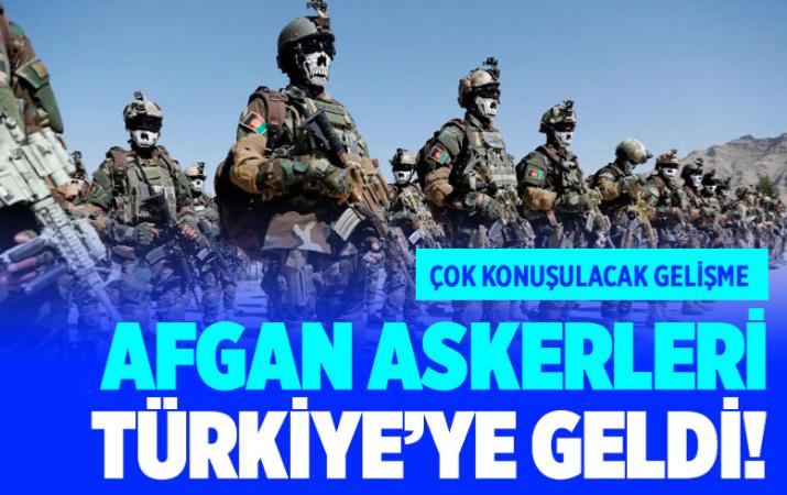 Taliban'a karşı savaşacak Afgan askerler Türkiye'de eğitilecek ilk kafile geldi