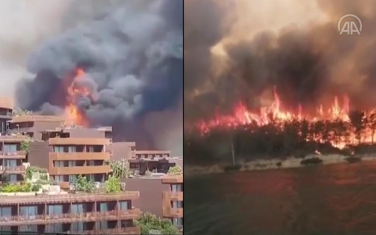 Şimdi de Bodrum yanıyor! Alevler 5 yıldızlı lüks otele sıçradı oteller boşaltılıyor