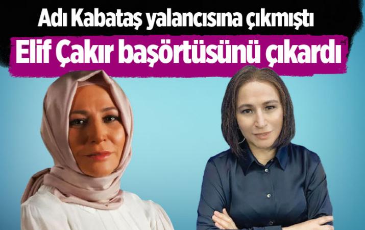 Karar gazetesi yazarı Elif Çakır başörtüsünü çıkardı