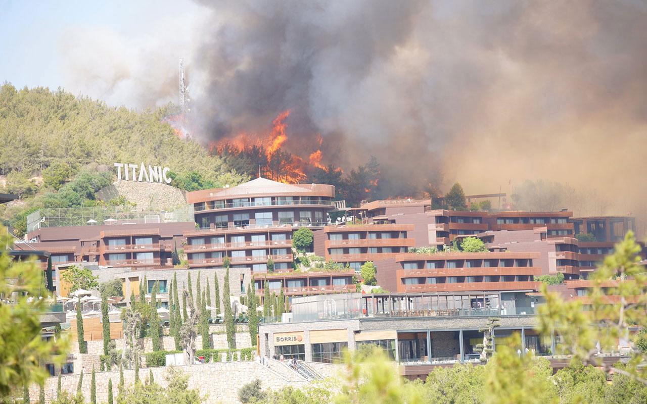 Bodrum'da ciğerler yandı! 80 hektar orman küle döndü Alevler 5 yıldızlı lüks oteli sardı