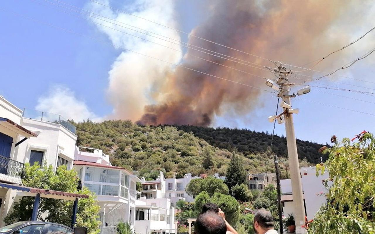 Bodrum'da yeni yangın! Evler ve oteller boşaltılıyor üst üste anonslar yapılıyor