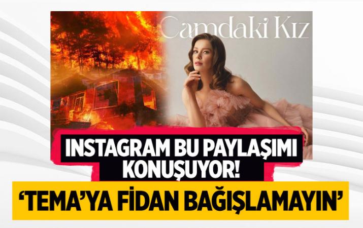 Burcu Biricik'ten sosyal medya 'TEMA'ya fidan bağışı yapmayın' paylaşımı