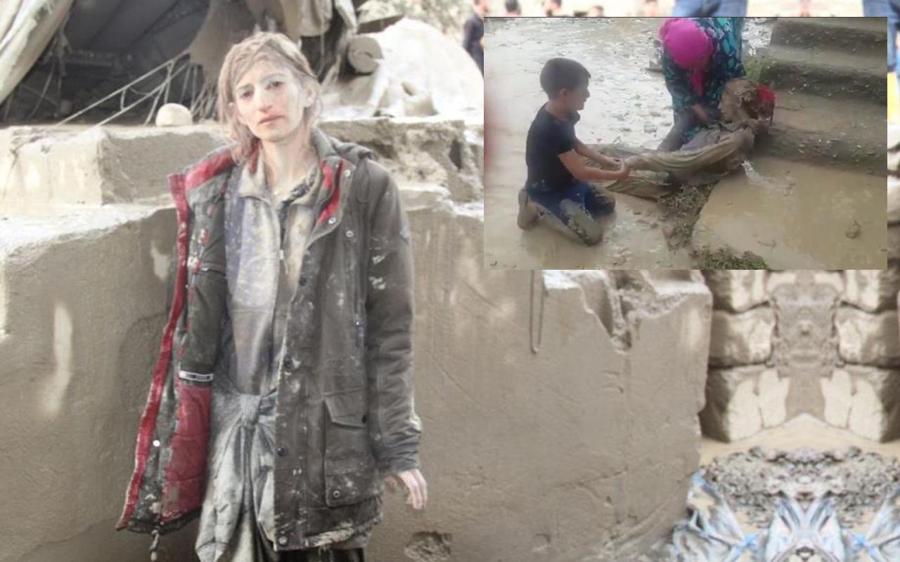 Van Başkale'de sel felaketi! Onlarca yapı yıkıldı bir kadın son anda kurtarıldı