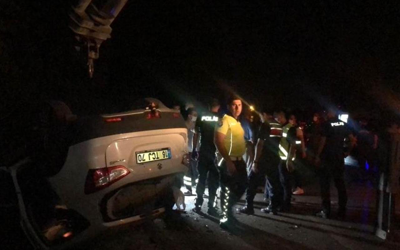 Bursa'da zincirleme kaza: 1 ölü 2'si ağır 5 yaralı