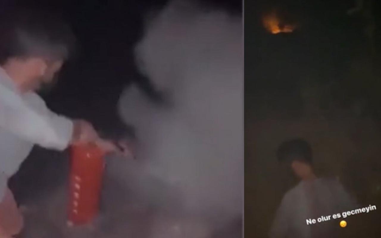 Yusuf Güney, yangın bölgesi Manavgat'a gitti: Küçük yangınlara böyle müdahale etti