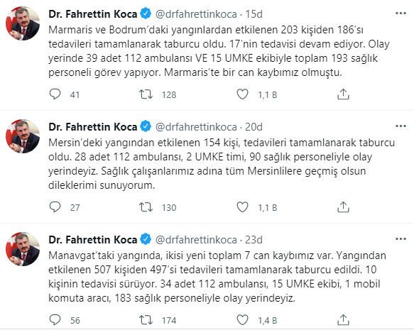 Bakan Fahrettin Koca açıkladı! Manavgat'taki can kaybı 7'ye yükseldi