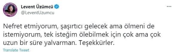 Oyuncu Levent Üzümcü'den, Cumhurbaşkanı Erdoğan'a skandal sözler! Kin kustu - Internet Haber