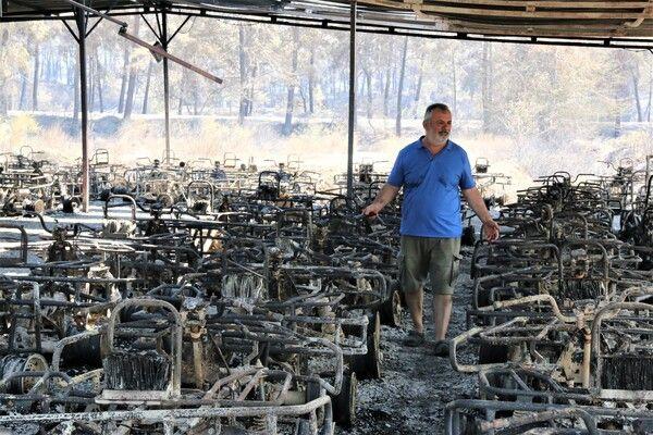 Antalya Manavgat alev alev yandı! Dönünce hayatının şokunu yaşadı: 100 metre fırladı