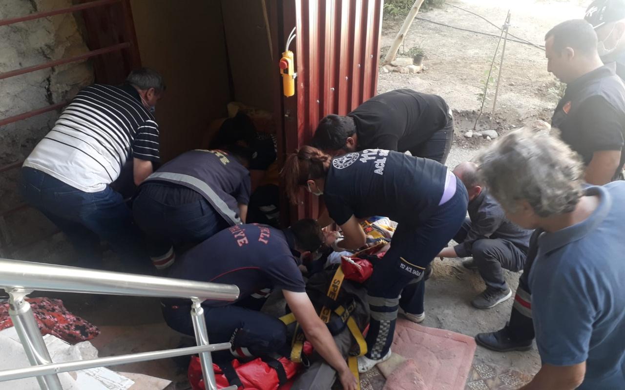Afyonkarahisar'da asansör halatı kopunca olanlar oldu! 2 kişi çakıldı