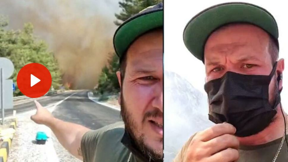 Şahan Gökbakar canlı yayında Marmaris yangınını gösterirken yalvardılar: Kurtar!