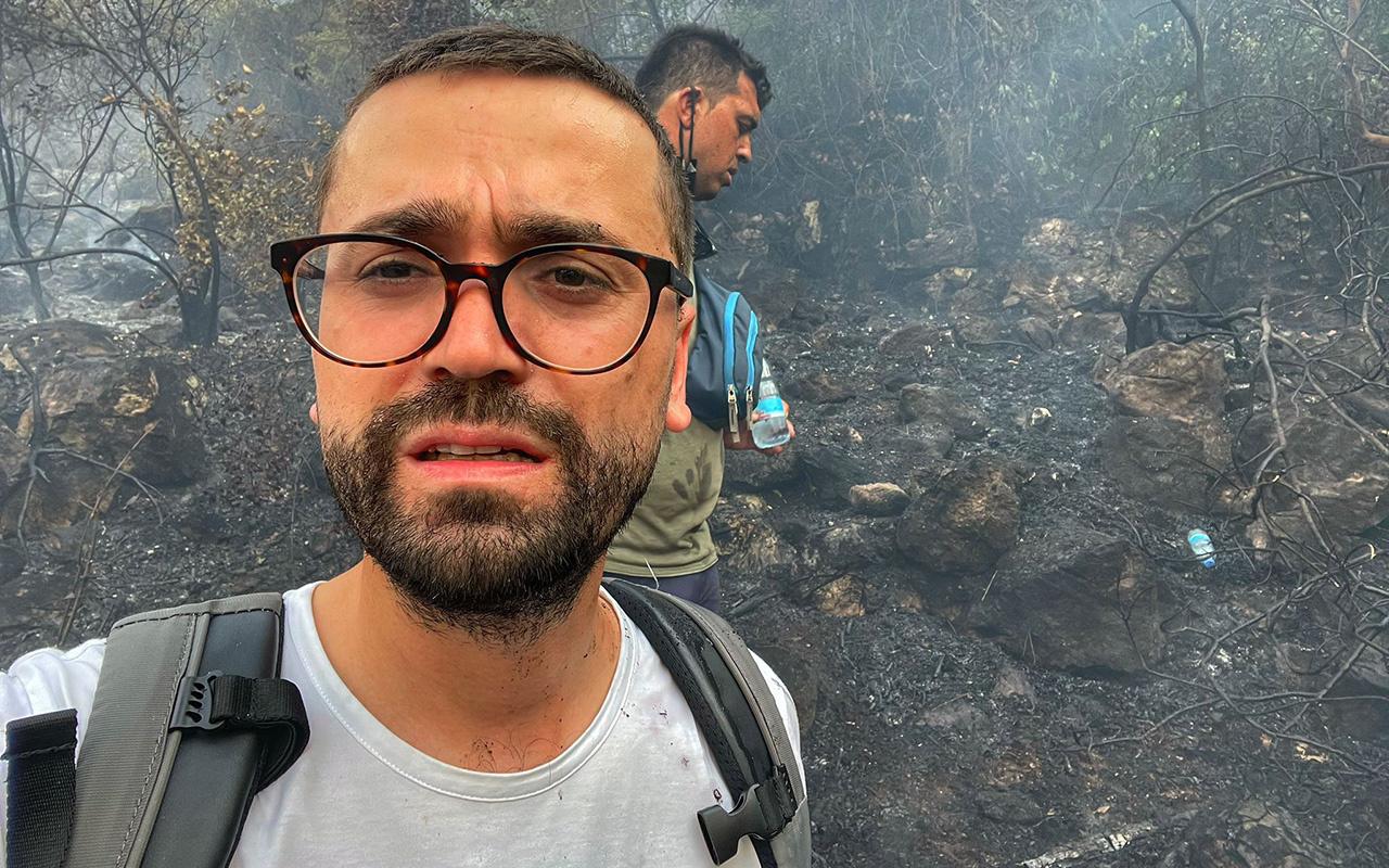 Adem Metan orman yangınlarıyla ilgili tüm bilgileri bölgeden aktarıyor