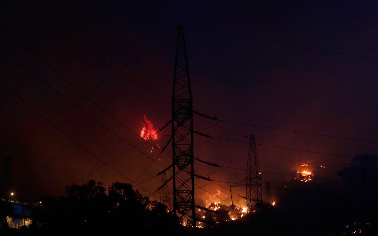 Milas termik santrali yanıyor! Her yer alev alev diyerek kaçanların videosu şok etti
