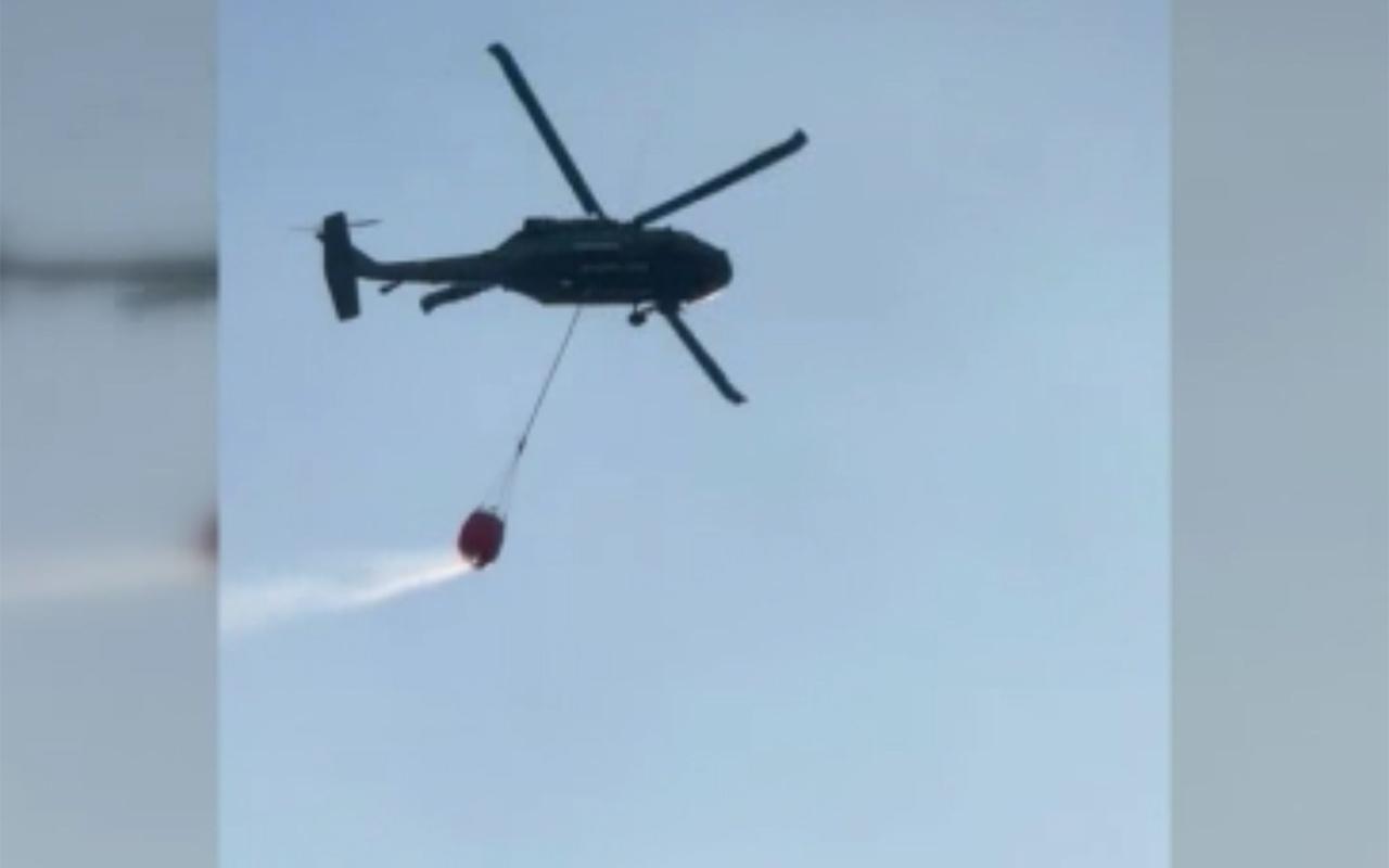 Su sepeti takılan Sikorsky yangın söndürme filosuna katıldı