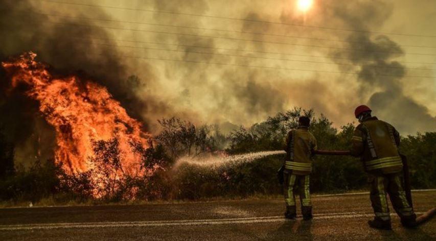 Marmaris yangınını canlı yayınlayan Şahan Gökbakar muhabirlere sinirlendi!